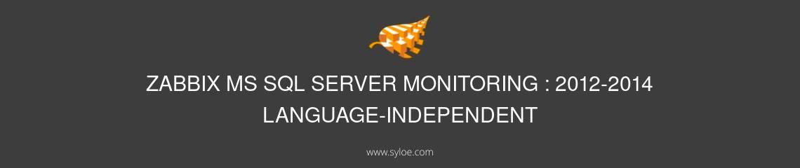 zabbix ms sql server monitoring