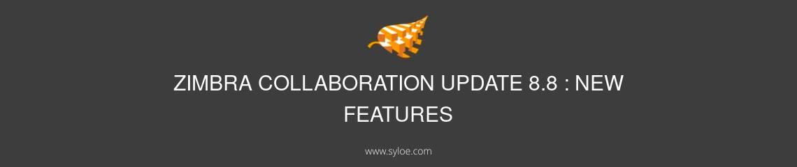 Zimbra collaboration update 8.8