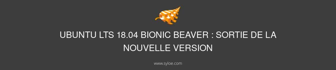 Ubuntu LTS 18.04 Bionic Beaver