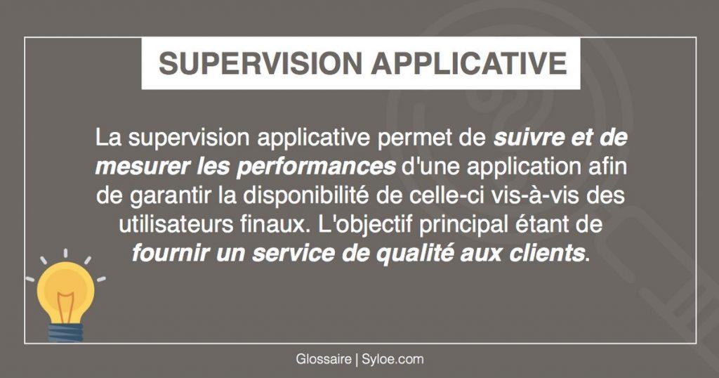supervision applicative métiers